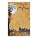 Silueta de la escena del cementerio de Halloween Papeleria