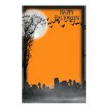 Silueta de la escena del cementerio de Halloween Papelería De Diseño