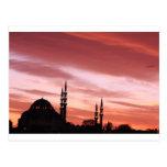 Silueta de la Estambul-Mezquita Postal