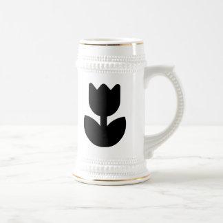 Silueta de la flor jarra de cerveza