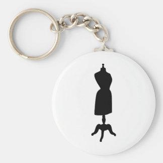 Silueta de la forma del vestido del Victorian Llavero Redondo Tipo Pin