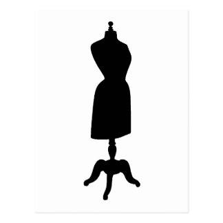 Silueta de la forma del vestido del Victorian Postal