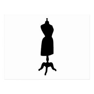 Silueta de la forma del vestido del Victorian Tarjeta Postal