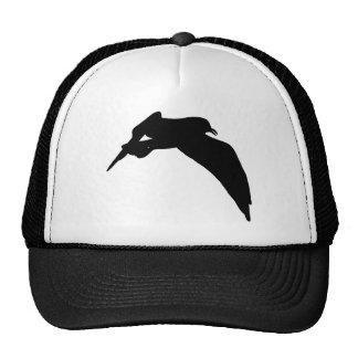 Silueta de la gaviota en gorra negro