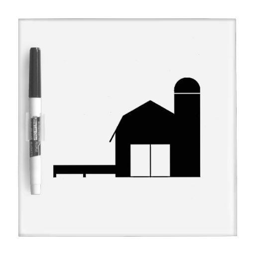 Silueta de la granja tablero blanco