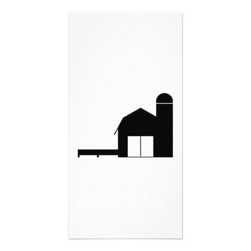 Silueta de la granja tarjetas personales con fotos