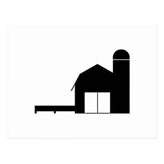 Silueta de la granja postal