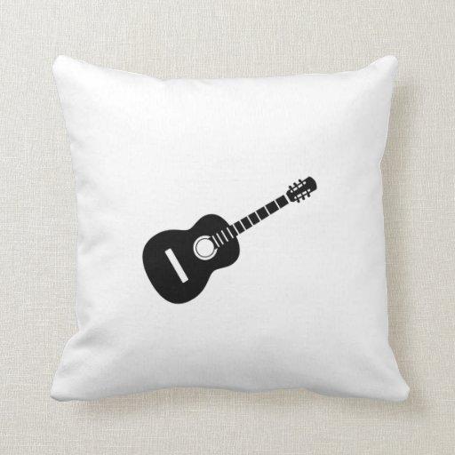 Silueta de la guitarra acústica cojin
