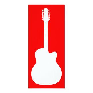 """silueta de la guitarra eléctrica invitación 4"""" x 9.25"""""""