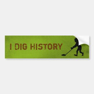 Silueta de la historia del empuje del detector de  pegatina para auto