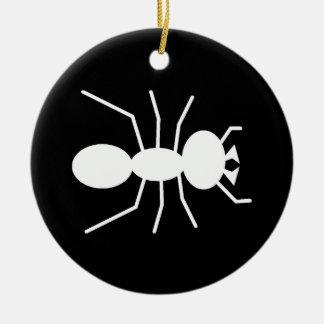 Silueta de la hormiga adorno de navidad