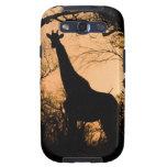 Silueta de la jirafa (camelopardalis del Giraffa) Samsung Galaxy SIII Funda