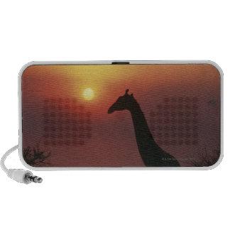 Silueta de la jirafa (Giraffa Camelopardalis) Altavoz De Viajar
