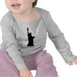 Silueta de la libertad camisetas
