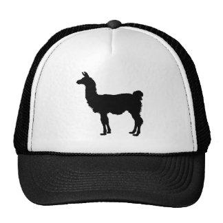 Silueta de la llama gorras de camionero