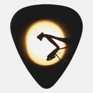 Silueta de la mantis religiosa púa de guitarra
