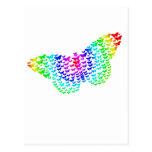 Silueta de la mariposa del arco iris postales