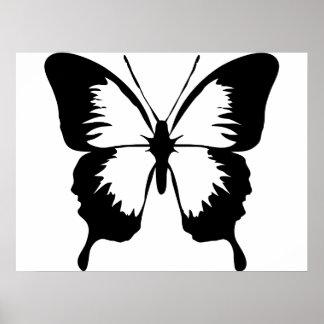 Silueta de la mariposa que agita impresiones