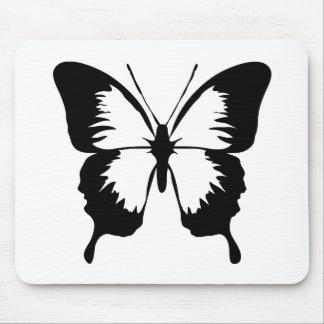 Silueta de la mariposa que agita alfombrillas de raton