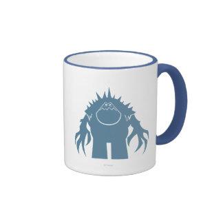 Silueta de la melcocha tazas de café