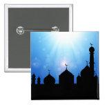 Silueta de la mezquita con el resplandor solar - b pins