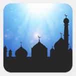 Silueta de la mezquita con el resplandor solar - p