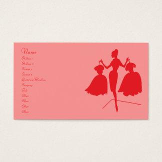 Silueta de la moda del vintage tarjeta de negocios