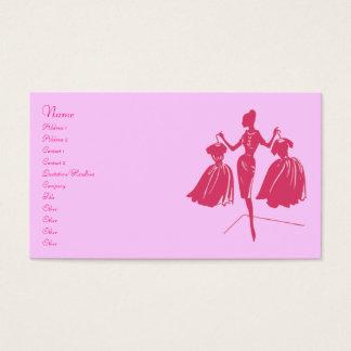 Silueta de la moda tarjeta de negocios