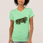 Silueta de la morsa del camuflaje camisetas