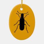 Silueta de la mosca de España Ornamento De Navidad