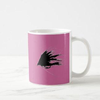Silueta de la mosca de Spey Tazas De Café