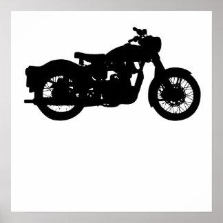 Silueta de la motocicleta del vintage posters