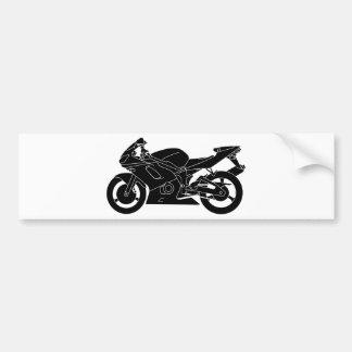 silueta de la motocicleta pegatina para auto