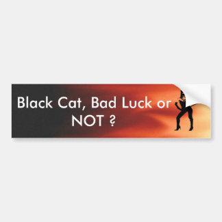 Silueta de la mujer del gato pegatina para auto