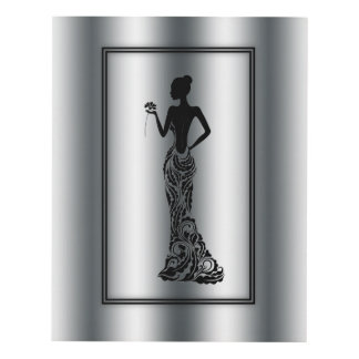 Silueta de la mujer elegante cuadro