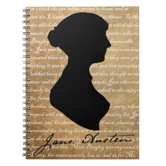 Silueta de la página de Jane Austen Notebook