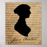 Silueta de la página de Jane Austen Posters