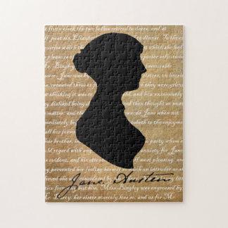 Silueta de la página de Jane Austen Rompecabeza