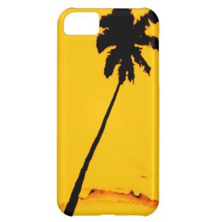 Silueta de la palmera funda para iPhone 5C