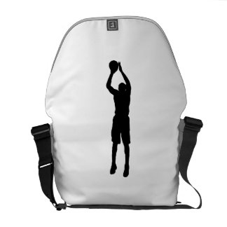 Silueta de la pistola del baloncesto bolsas de mensajería