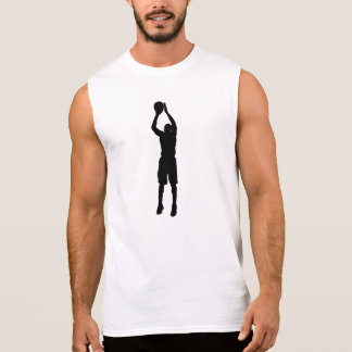 Silueta de la pistola del baloncesto camiseta sin mangas