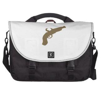 Silueta de la pistola del pedernal bolsas para portátil