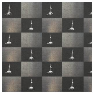 Silueta de la plataforma de perforación en negro telas