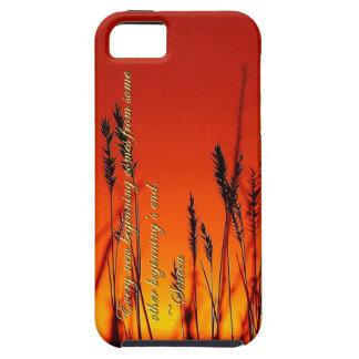 Silueta de la puesta del sol inspirada iPhone 5 Case-Mate protector