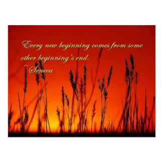 Silueta de la puesta del sol inspirada postales