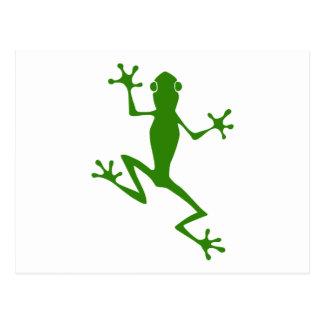 Silueta de la rana verde que sube