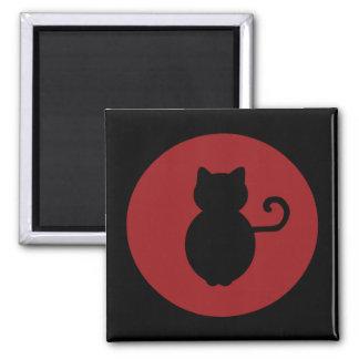 Silueta de la señal del gato imán de frigorifico