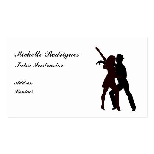 Silueta de la tarjeta de visita de los bailarines