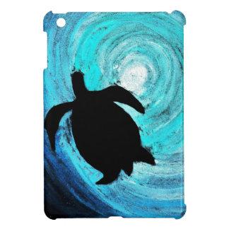 Silueta de la tortuga de mar (arte de K.Turnbull) iPad Mini Carcasas
