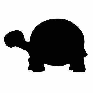 Silueta de la tortuga fotoescultura vertical